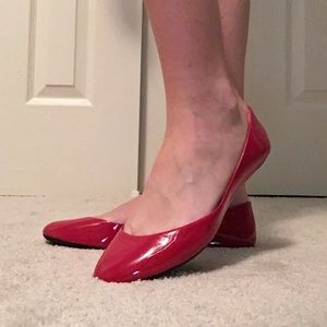 Steve Madden Red Ballet Flats